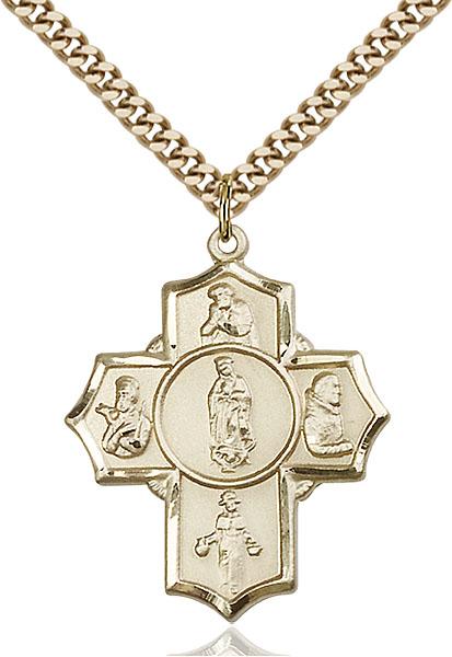 Gold-Filled Guadalupe/Dieg/Pio/Xav/Nino Pendant