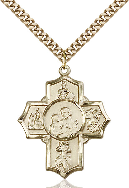Gold-Filled 5-Way Firefighter Pendant