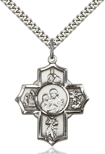 Sterling Silver 5-Way Firefighter Pendant