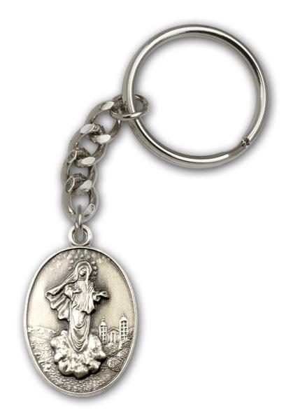 Antique Silver Medjugorje Keychain
