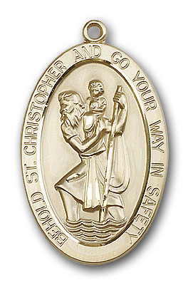Gold-Filled St. Christopher Pendant - Engrave it!