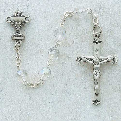 6MM Crytal Communion Rosary