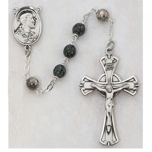 7MM Green/Black Rosary