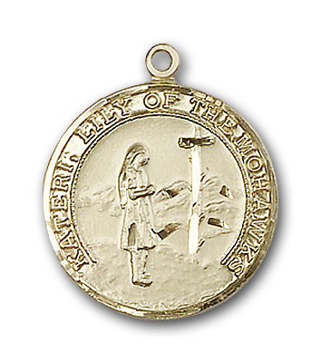 Gold-Filled St. Kateri Pendant