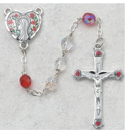 7MM Crystal/Ruby Rosary