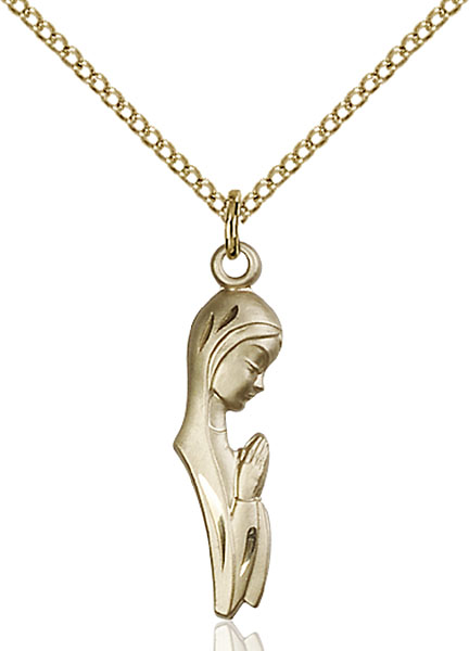 Gold-Filled Madonna Pendant