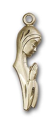 14K Gold Madonna Pendant - Engravable