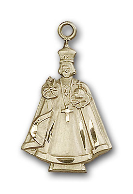 14K Gold Infant Figure Pendant