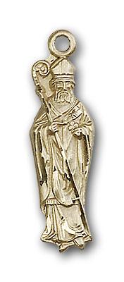 14K Gold St. Patrick Pendant - Engravable