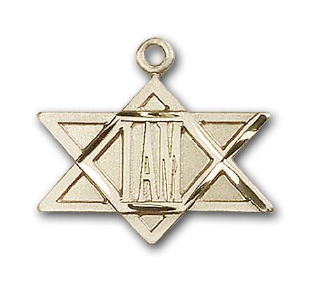 14K Gold I Am Star Pendant