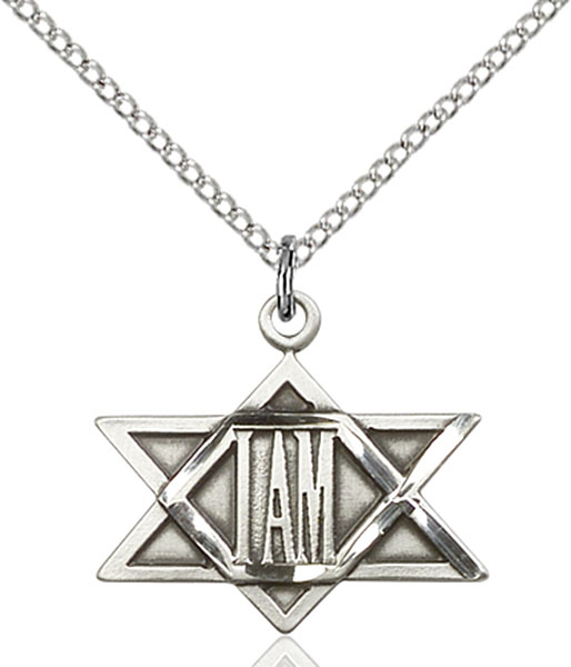 Sterling Silver I Am Star Pendant