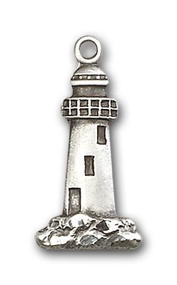 Sterling Silver Lighthouse Pendant