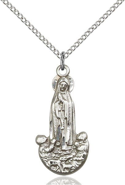 Sterling Silver Our Lady of Fatima Pendant