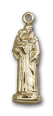 Gold-Filled St. Anthony Pendant