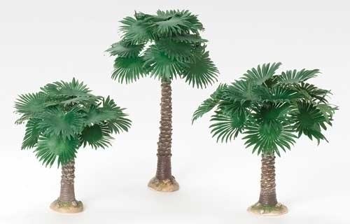 3Pc St 6.5-inch -9.5-inch Fan Palm Tree