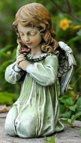 12-inch Kneeling Angel Statue