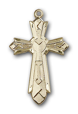 Gold-Filled Mosaic Cross Pendant