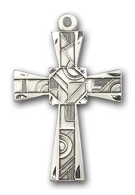 Sterling Silver Mosaic Cross Pendant