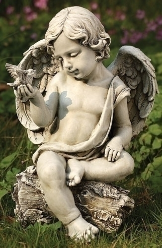 12-inch Cherub With Dove