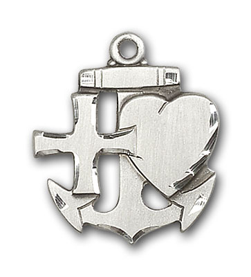 Sterling Silver Faith, Hope & Charity Pendant