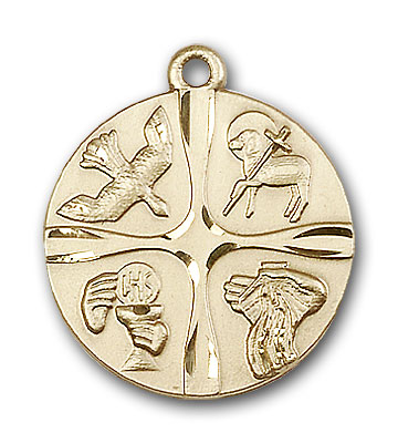 14K Gold Christian Life Pendant - Engravable