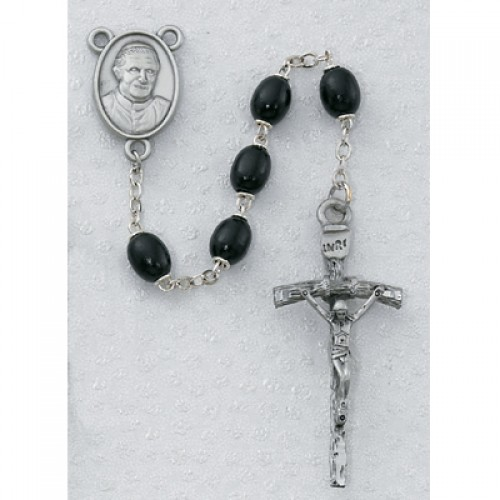 Black Wood Pope Benedict Rosary