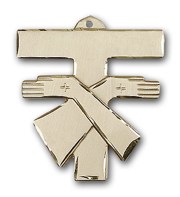 Gold-Filled Franciscan Cross Pendant