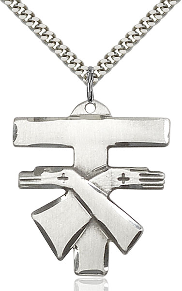 Sterling Silver Franciscan Cross Pendant
