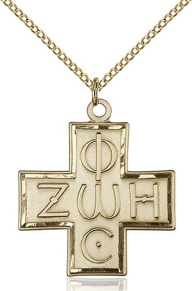 Gold-Filled Light & Life Cross Pendant