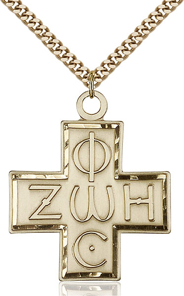 Gold-Filled Light & Life Cross Pendant
