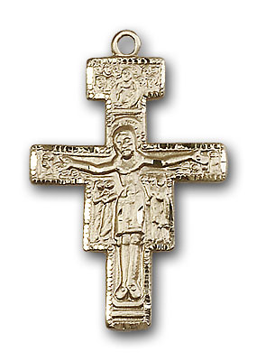 Gold-Filled San Damiano Crucifix Pendant