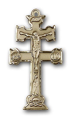 Gold-Filled Caravaca Crucifix Pendant