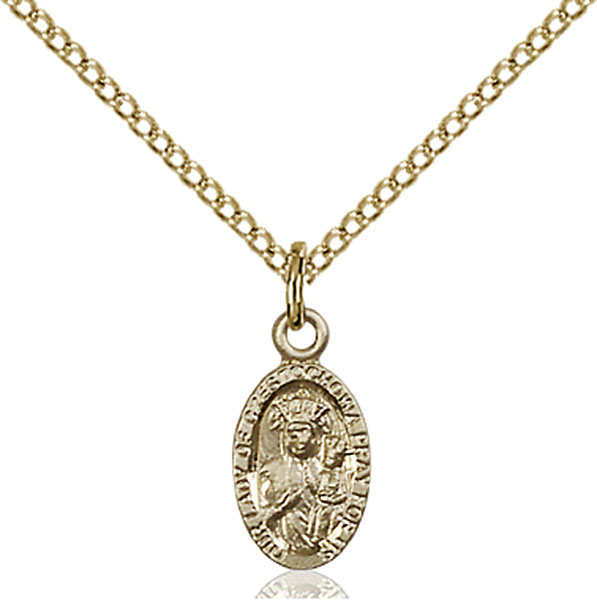 Gold-Filled Our Lady of Czestochowa Pendant