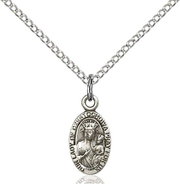 Sterling Silver Our Lady of Czestochowa Pendant