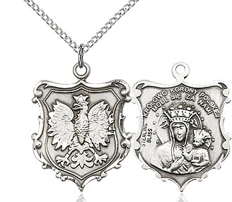 Sterling Silver Our Lady of Czestochowa / Polish Falco