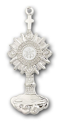 Sterling Silver Monstrance Pendant