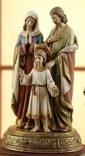 10.5-inch Holy Family Fig On Base