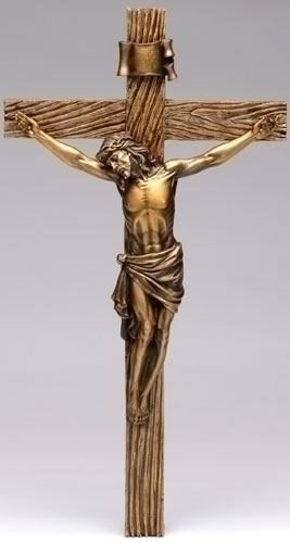 20-inch Antique Gold Crucifix