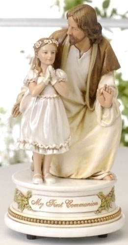 7.25-inch Musical Girl With Jesus