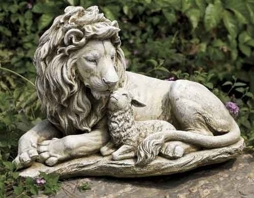 12.5-inch Lion And Lamb Garden Fig