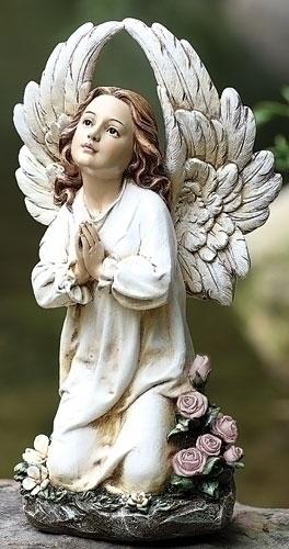 16-inch Kneeling Angel Garden Stat