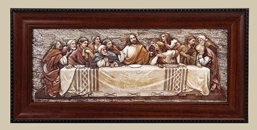 7-inch H Last Supper Plaque With Frame