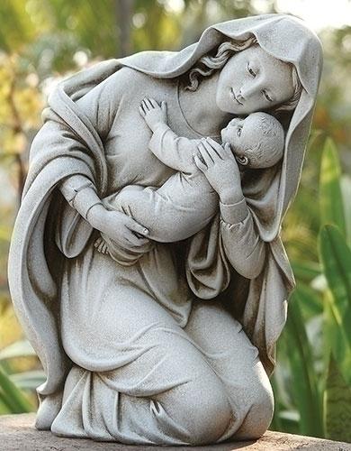 13.5-inch Kneeling Madonna & Child