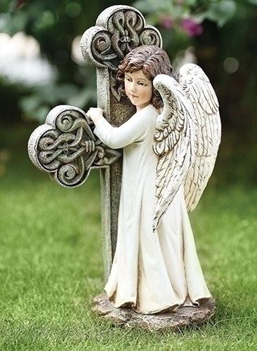11.75-inch H Angel Facing Cross