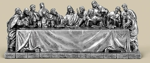 4.5-inch H Last Supper Pewter Finis