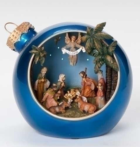 Musical 6-inch LED Ntvty Christmas Ball Fig