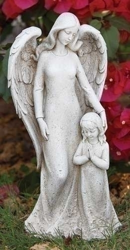 14.5-inch H Contempo Angel With Child