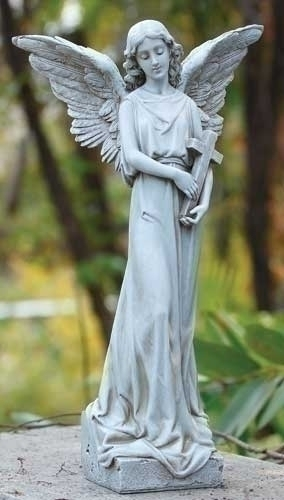 15.75-inch H Angel With Cross