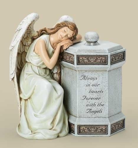 11.75-inch H Angel Memorial Box