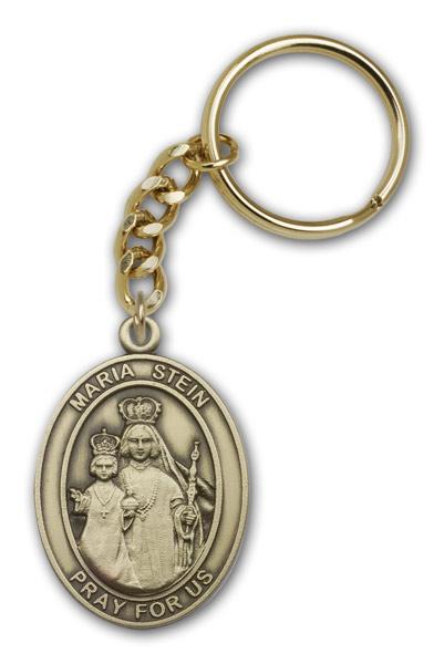 Antique Gold Maria Stein Keychain